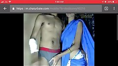 indian couple get intimate on webcam